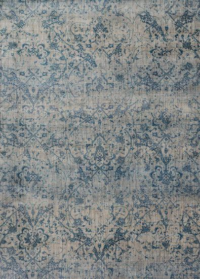 "Contemporary 5'-3""x7'-8"" Rug in Fog/Azure"