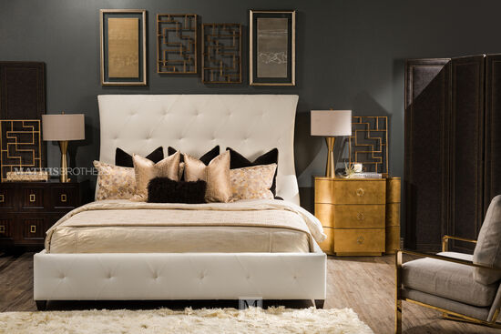 Bernhardt Jet Set King Leather Bed