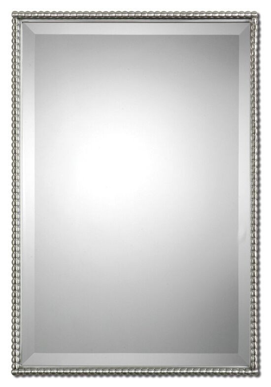 """31"""" Beaded Frame Mirrorin Brushed Nickel"""