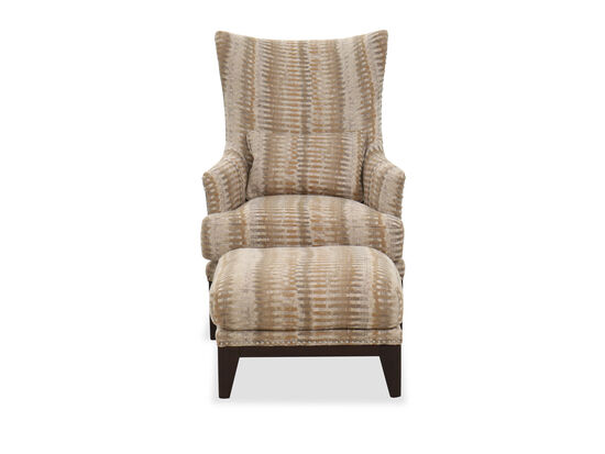 Two-Piece Transitional Accent Chair & Ottoman