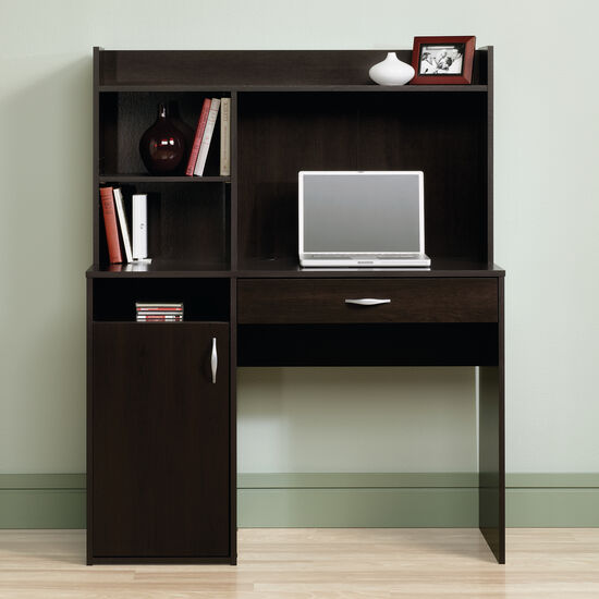 """43"""" Casual One-Drawer Desk with Hutch in Cinnamon Cherry"""