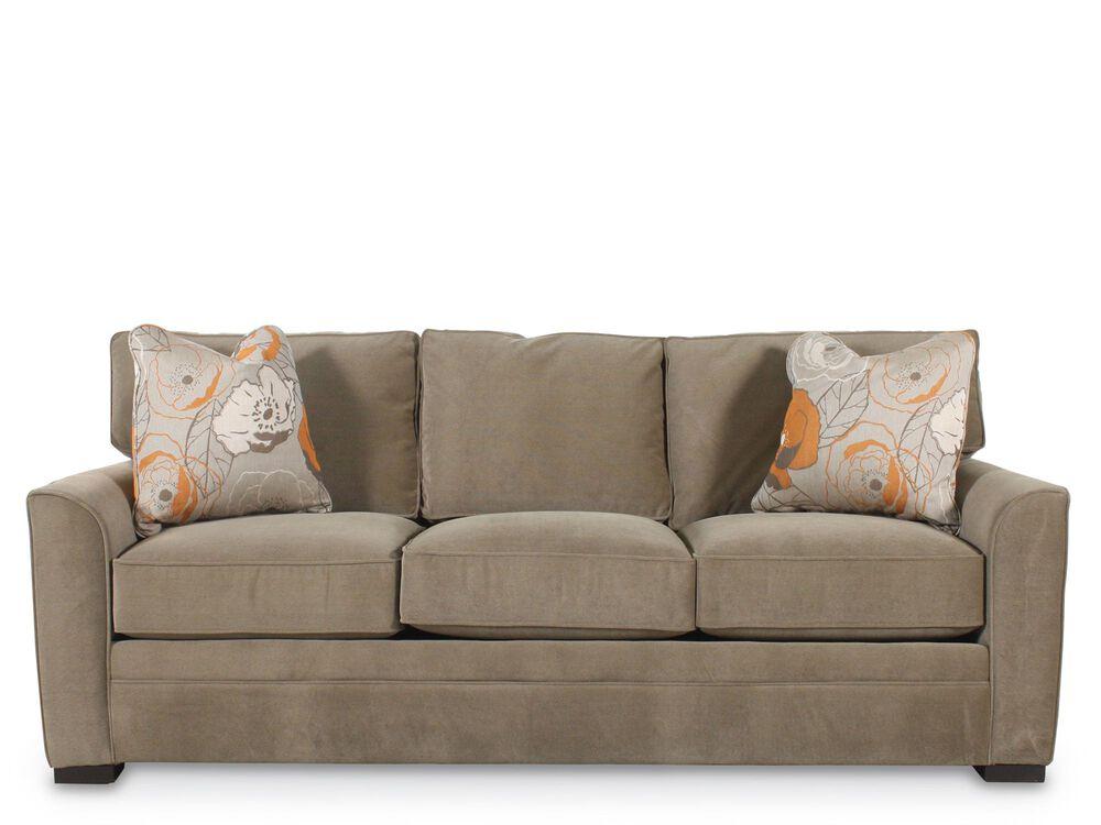 traditional sleeper sofa camel back images traditional queen sleeper sofa in brown mathis brothers furniture