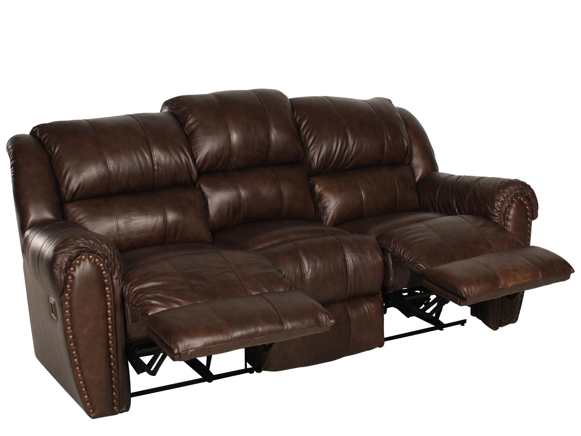 Traditional Nailhead Accented 89 Reclining Sofa