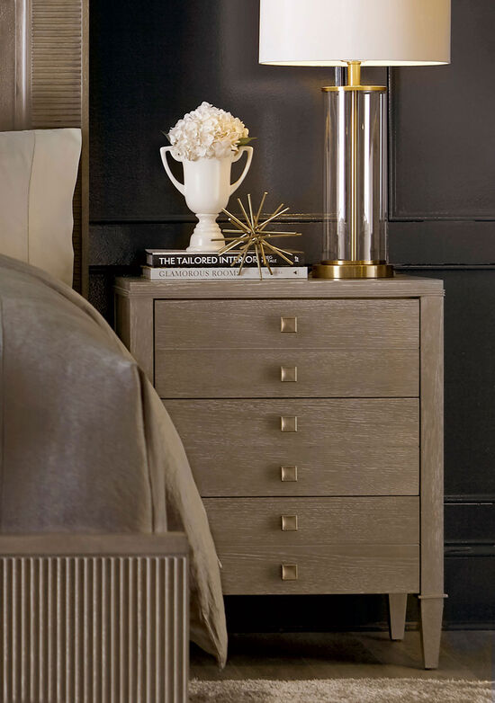 "30"" Transitional Three-Drawer Nightstand in Brown"