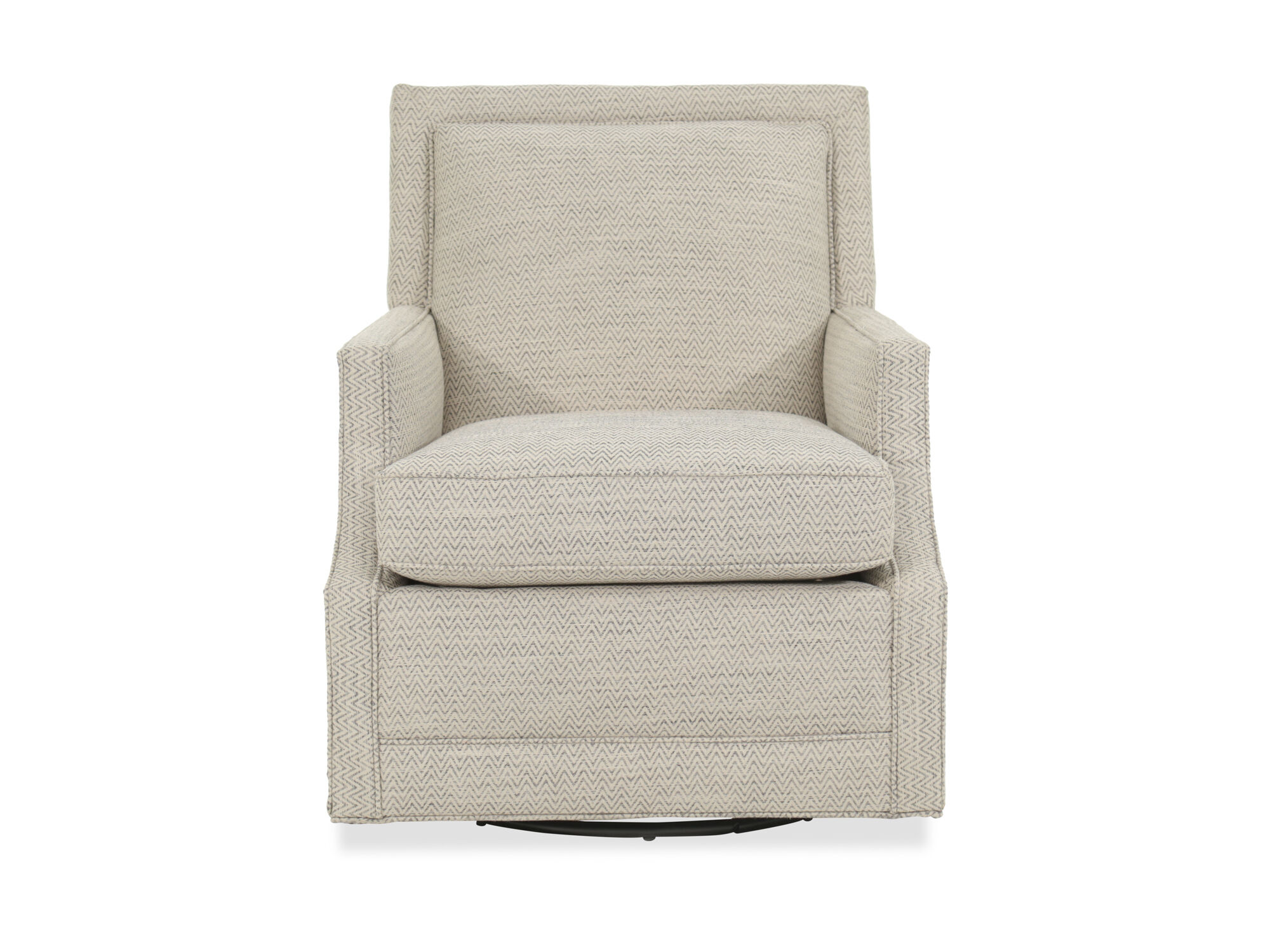 Images Wave Patterned Transitional 27.5u0026quot; Swivel Glider Chair In Cream
