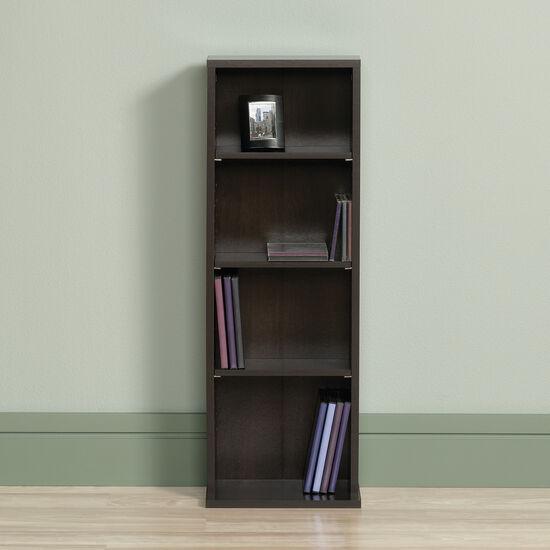 Casual Adjustable Shelf Multimedia Storage Tower in Cinnamon Cherry