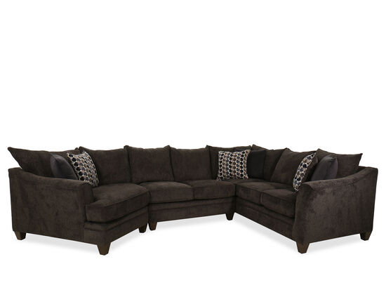 "Three-Piece Transitional 158"" Sectional in Slate"