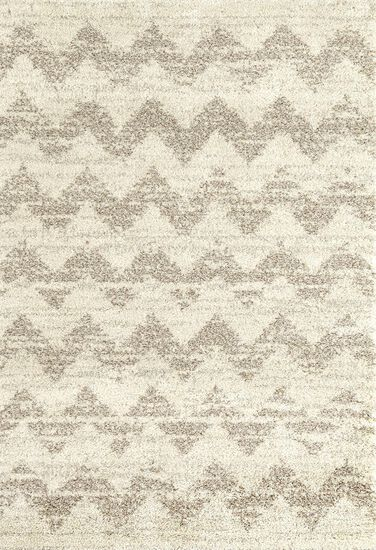 "Contemporary 5' 3""x7' 7"" Imported Area Rug Rectangle Rug in Cream"