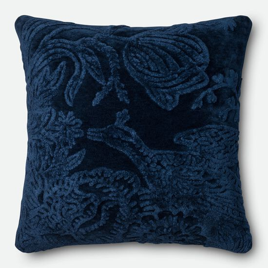 "Transitional 2'-2""x2'-2"" Pillow Cover Only in Indigo"