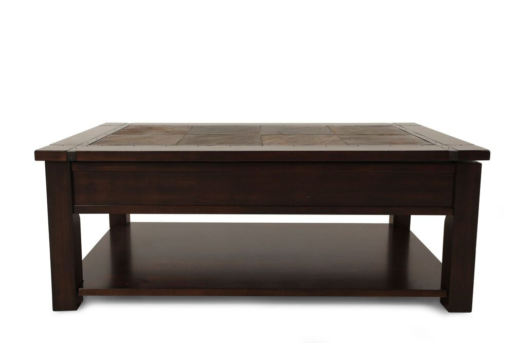 Lift-Top Contemporary Cocktail Table in Brown