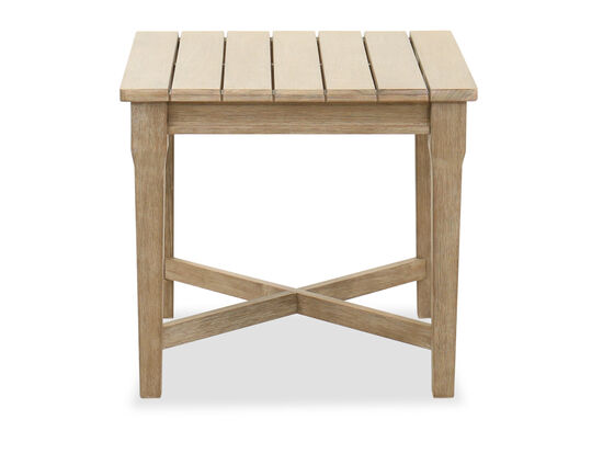 Traditional Square Slat Top End Table in Fawn