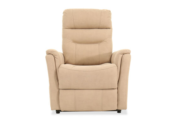 Remote-Controlled Leather 32'' Power Lift Recliner in Beige