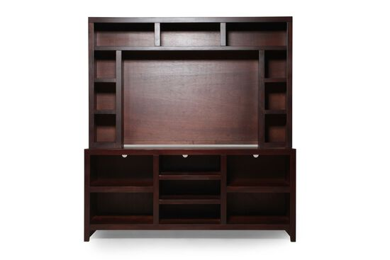 Casual Open Compartments Entertainment Center in Brown Cherry
