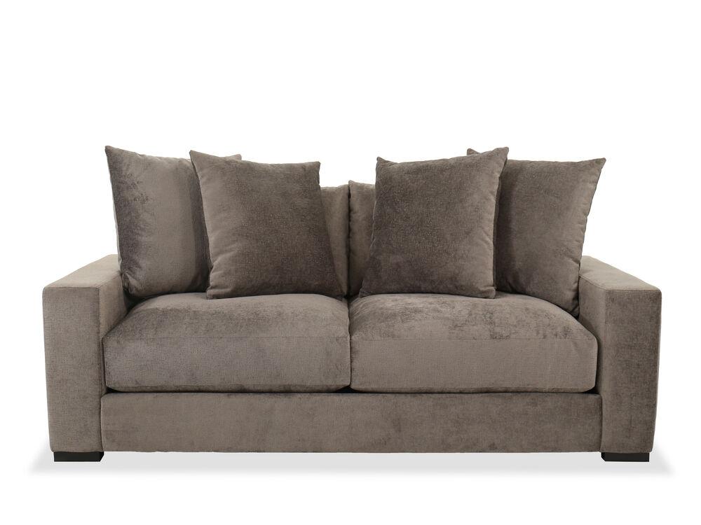 Contemporary Straight Arm Sofa In Gray
