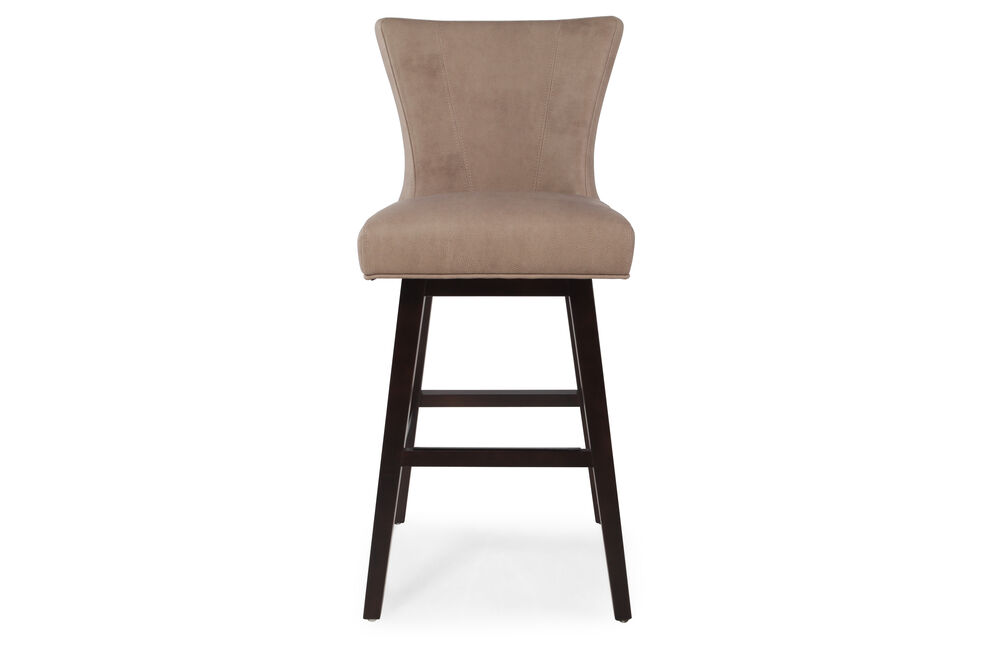 """Contemporary 43"""" Swivel Bar Stool in Saddle Brown"""