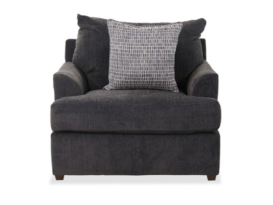 """Contemporary 41"""" Chair in Charcoal Gray"""