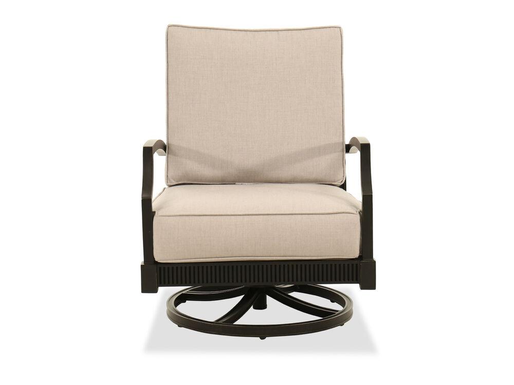 Rocking Aluminum Club Chair in Gray