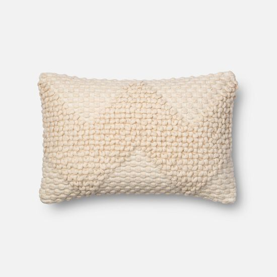 """13""""x21"""" Cover w/Poly Pillow in Ivory"""