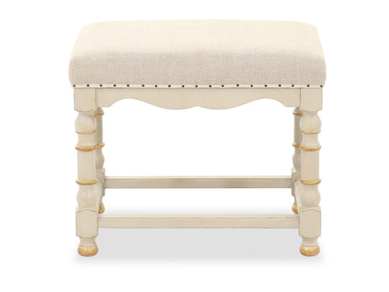 Nailhead-Trimmed Transitional 22'' Bench in Oatmeal