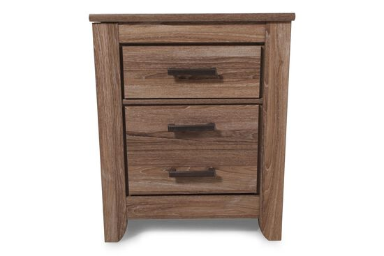 "29"" Casual Three-Drawer Nightstand in Chestnut"