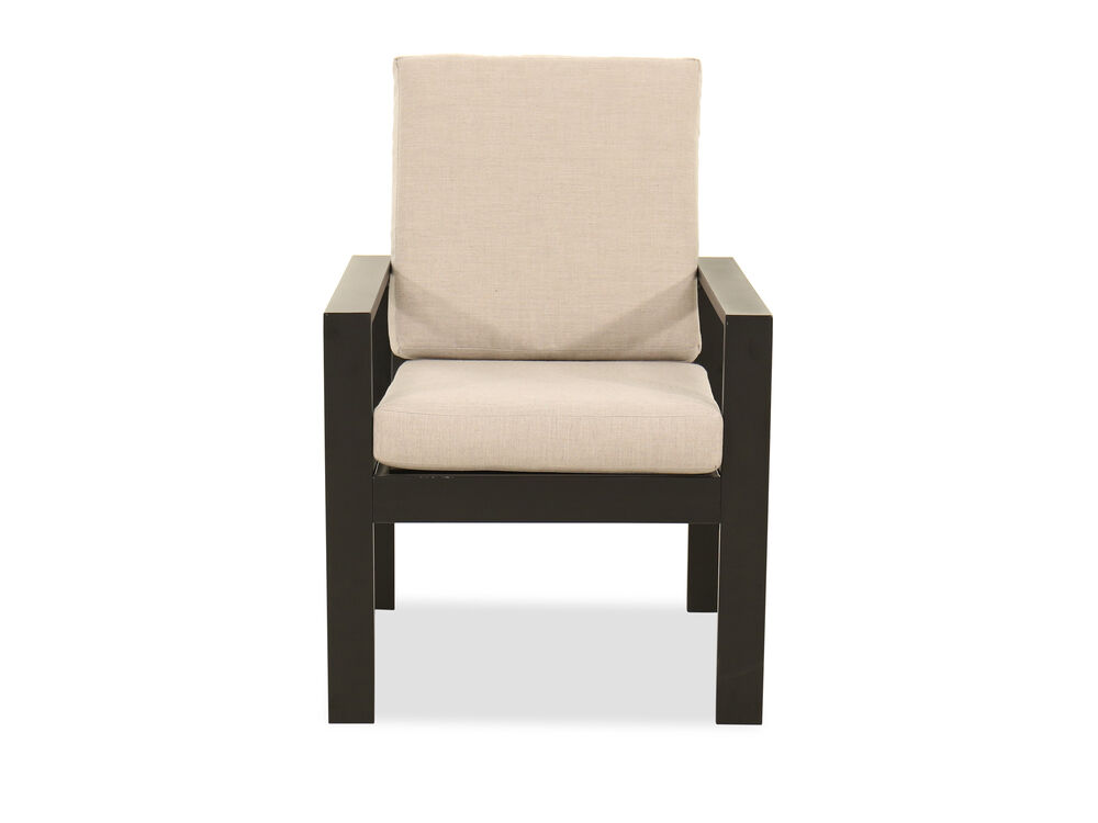 Modern Aluminum Patio Dining Chair in Black