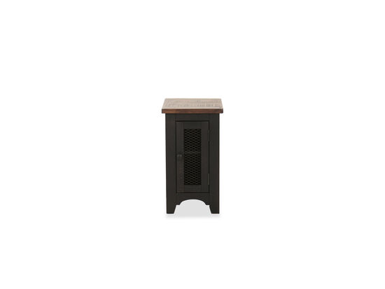 Traditional Chairside Table in Black