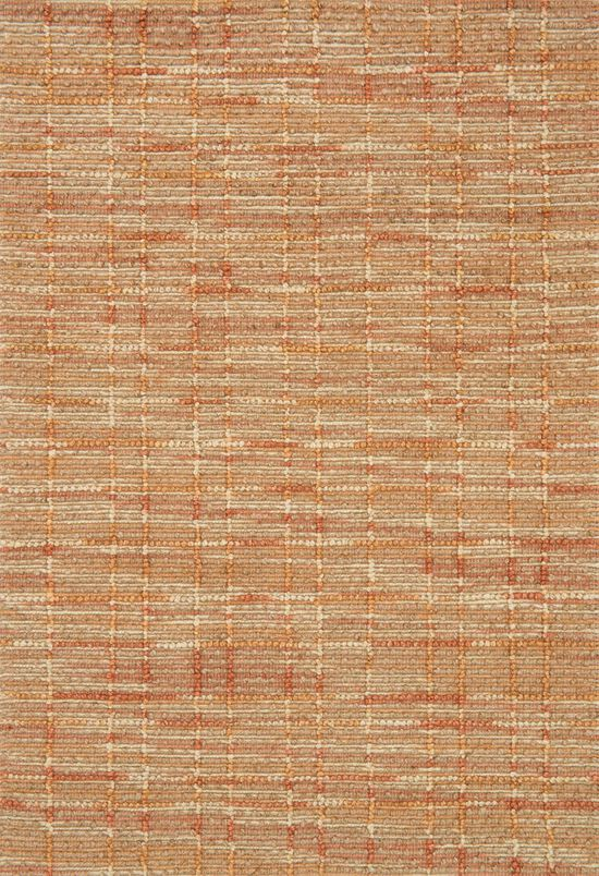 "Contemporary 7'-9""x9'-9"" Rug in Tangerine"