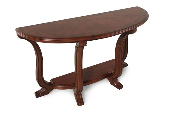Curved Legs Traditional Console Table in Medium Cherry