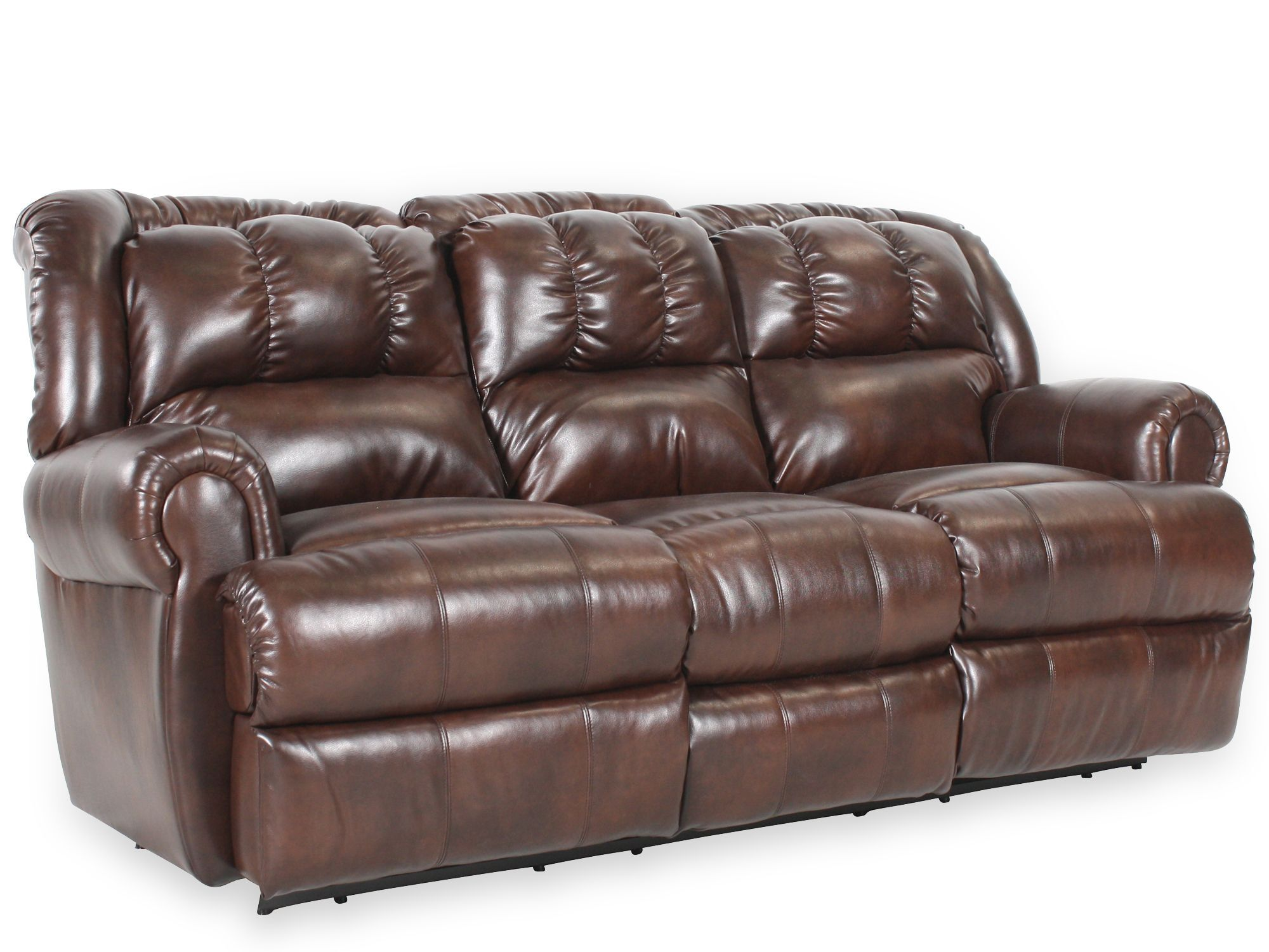 Tufted 88 Reclining Sofa With Drop Down Table