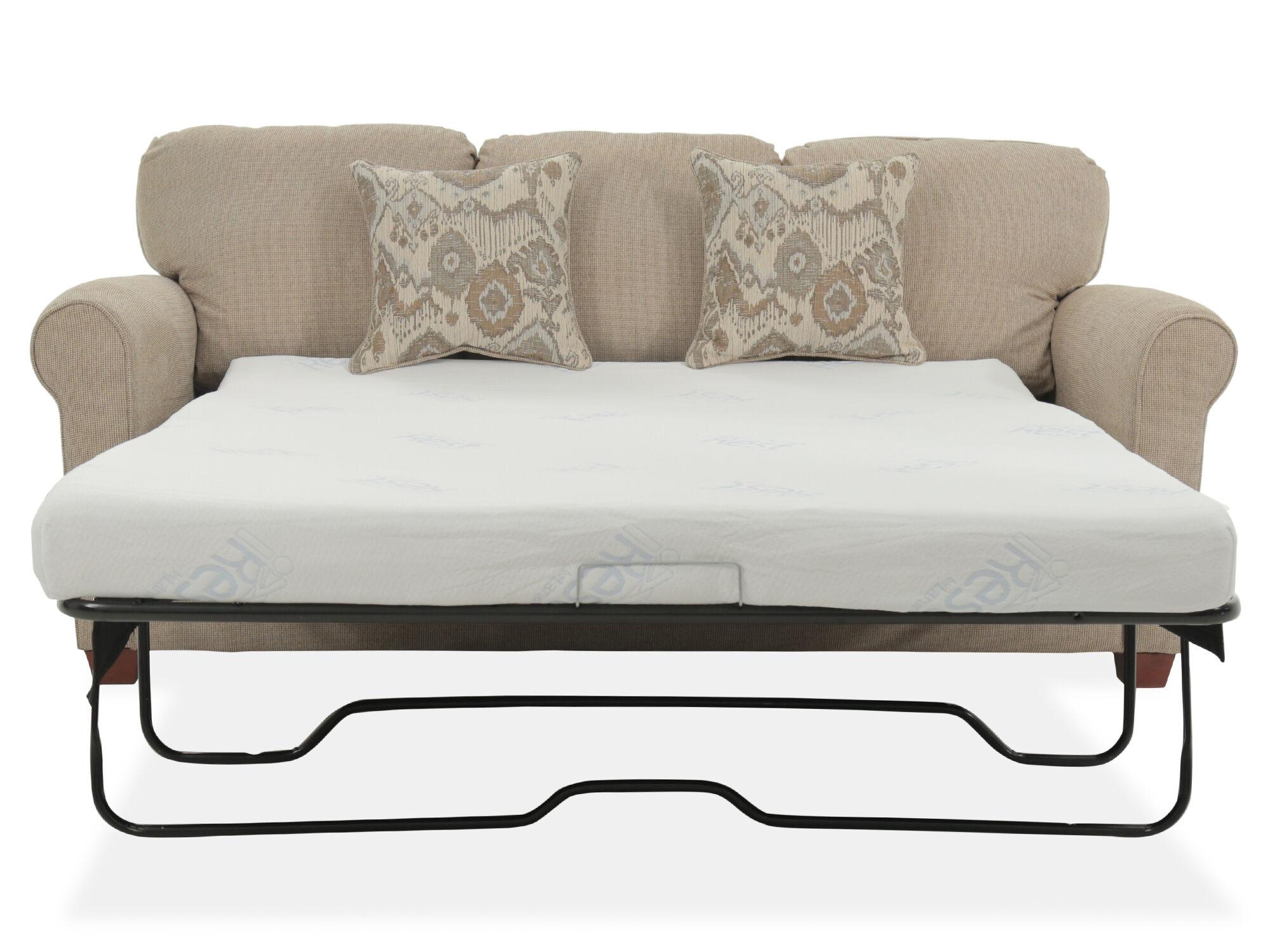 Roll Arm Transitional 84 Queen Sleeper Sofa