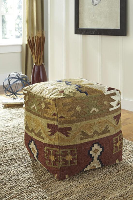 """Traditional 20"""" Kilim Pattern Pouf"""