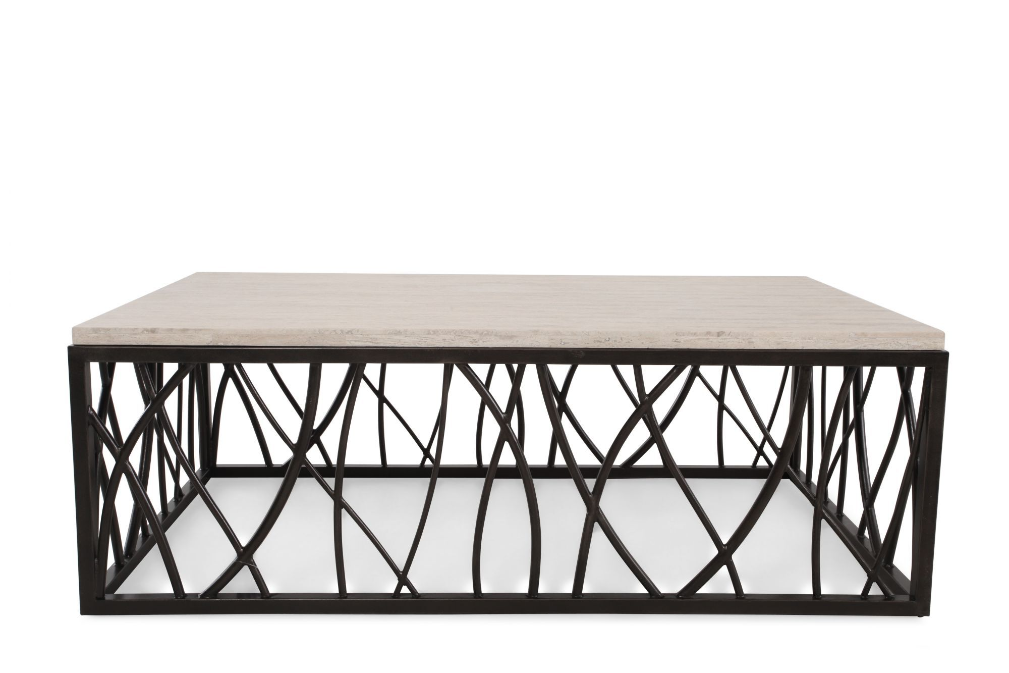 Hooker Furniture Coffee Table Part - 45: Hooker Stone/Iron Rectangle Cocktail Table