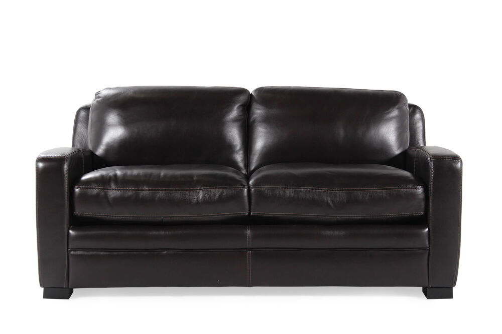 Images Traditional Leather 73 Full Sleeper Sofa