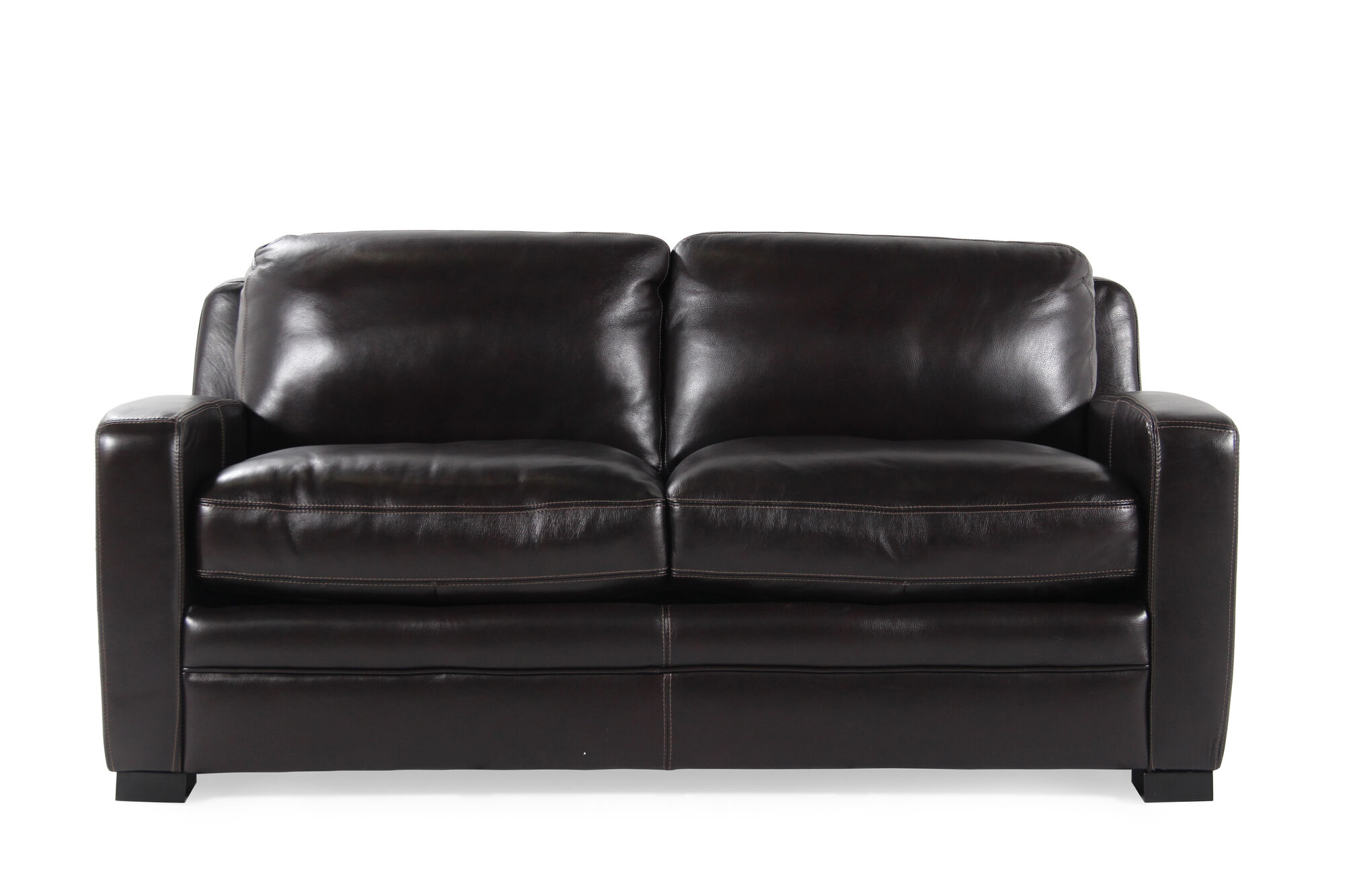 Traditional Leather 73 Full Sleeper Sofa