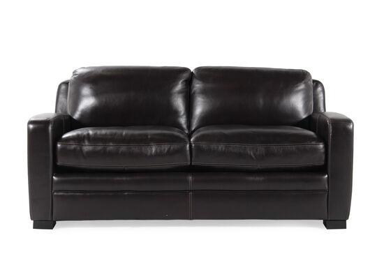 f045cf105ed Traditional Leather 73 quot  Full Sleeper Sofa ...