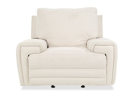 "Casual 49"" Motion Power Glider Recliner in White"