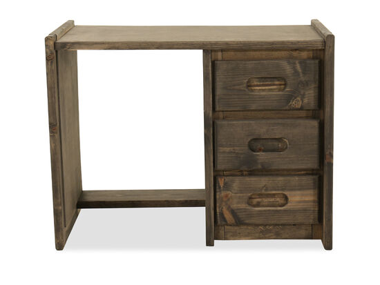 Contemporary Youth Three-Drawer Desk in Brown