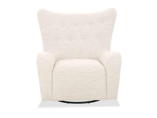 """Contemporary 37"""" Swivel Chair in White"""