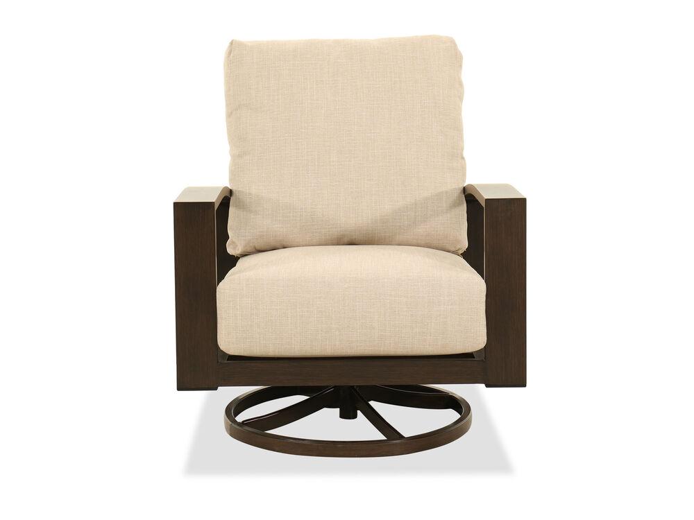 Aluminum Swivel Chair in Beige