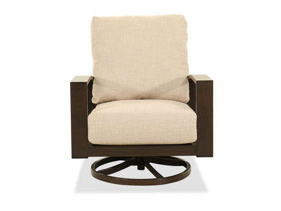 Aluminum Swivel Chair in Beige