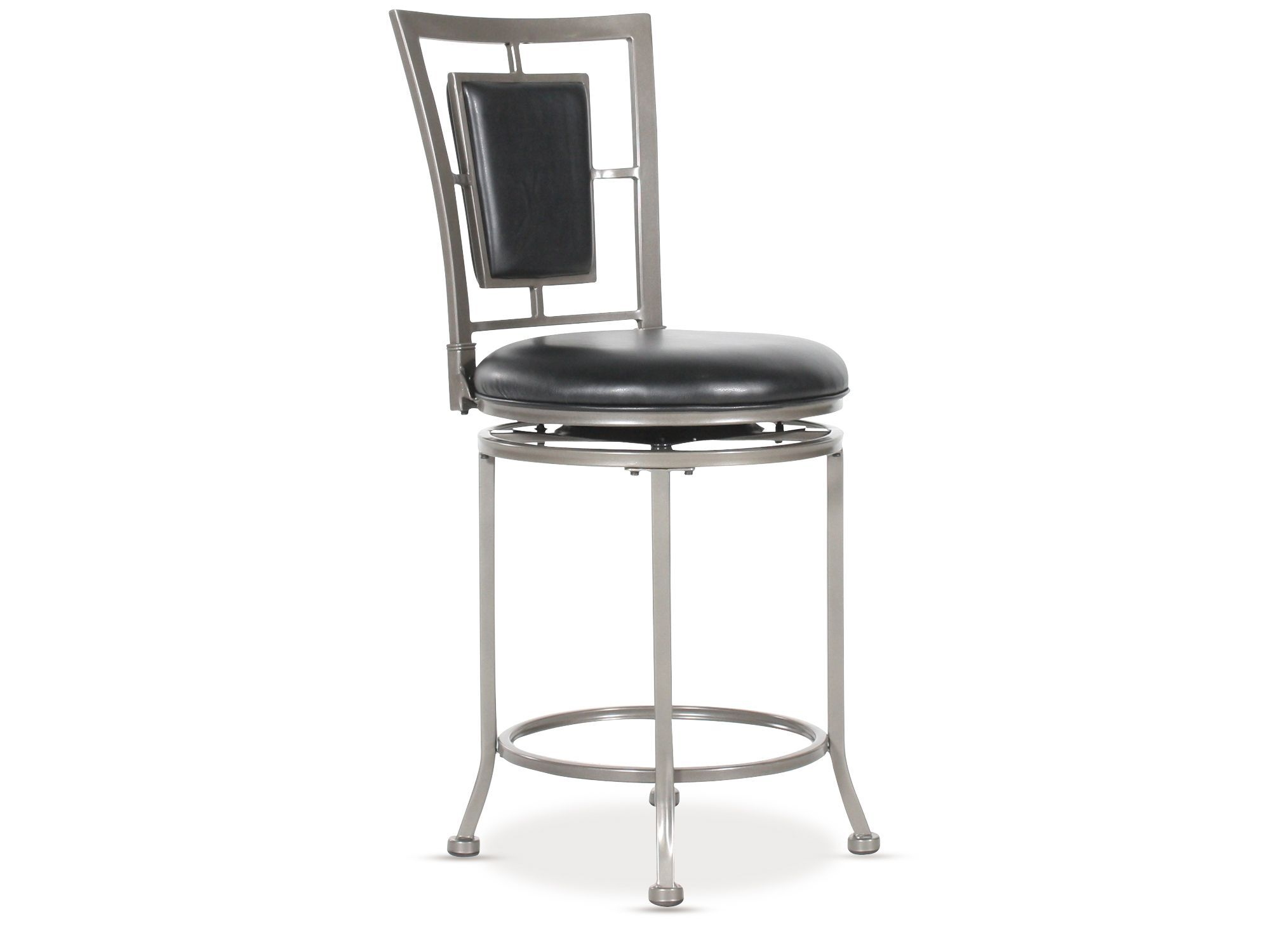 Contemporary 39 Quot Swivel Bar Stool In Gray Stone Mathis