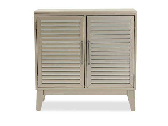 Contemporary Accent Cabinet in Silver