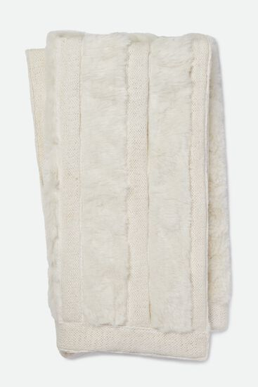 """Contemporary 4'-2""""x5' Throw in White"""