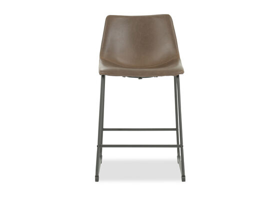"Casual 35"" Bar Stool in Brown"