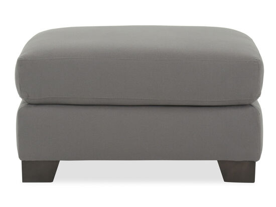 """Transitional 32"""" Ottoman in Gray"""