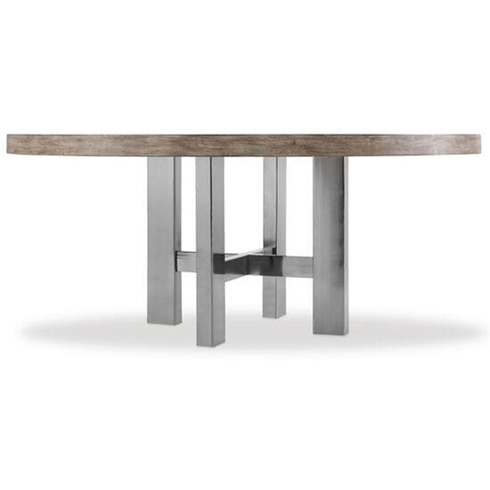 "Curata 72"" Round Dining Table in Medium Wood"