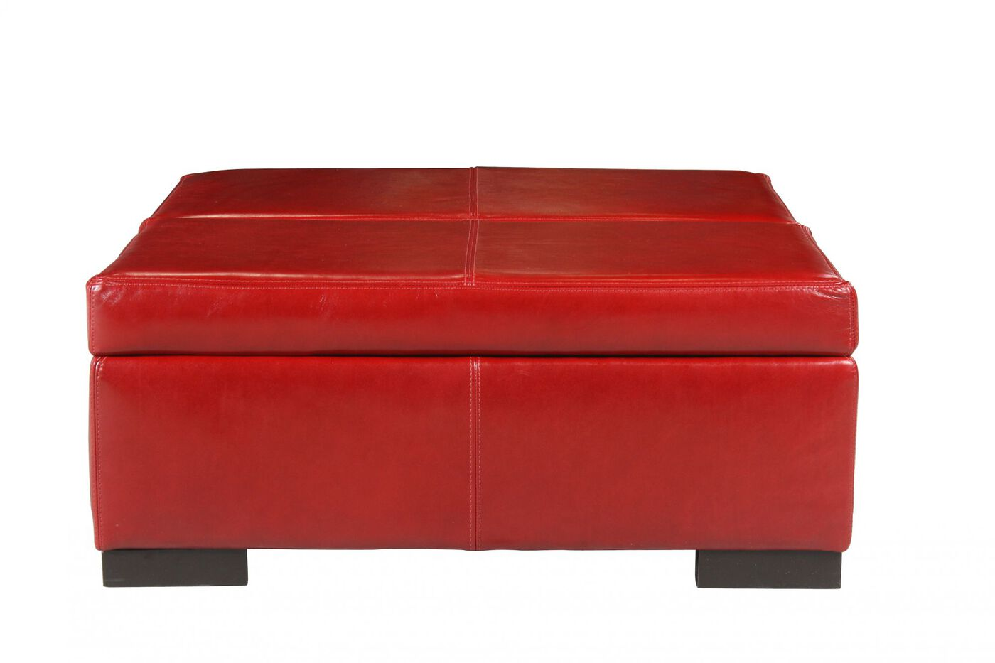 Traditional 36 Quot Leather Storage Ottoman In Red Mathis
