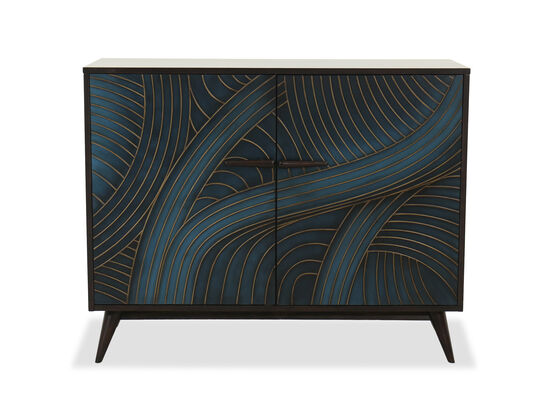 Transitional Two-Door Chest in Teal
