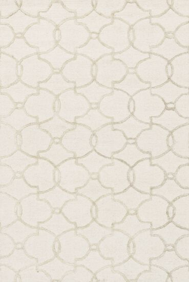 "Transitional 5'-0""x7'-6"" Rug in Ivory/Silver"