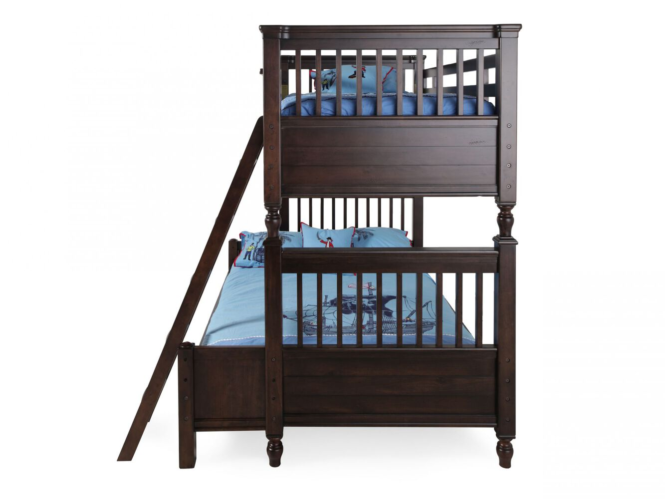 Traditional Youth Twin Over Twin Bunk Bed In Walnut